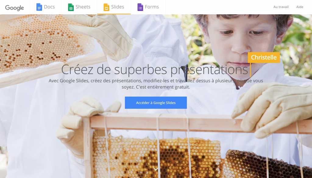 présentation alternative Powerpoint google slides