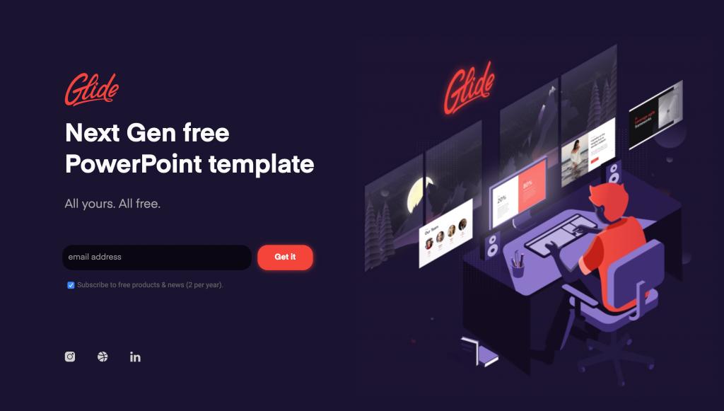 Glide un kit de templates complet pour présentation powerpoint