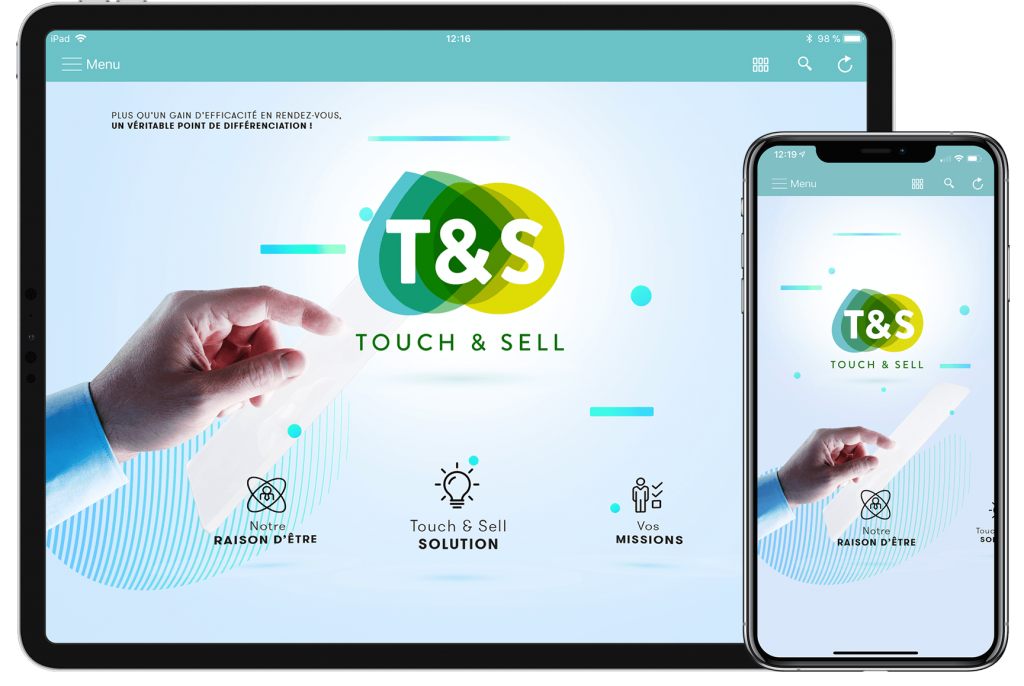 application performance Touch & sell visuel